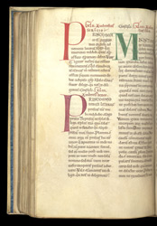 Coloured Initials With Colour-Notes, In A Volume Of Works By, Or Attributed To, St. Ambrose